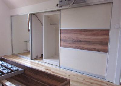 begehbarer schiebet rschrank und schlafzimmerm bel k chenstudio aderklaa k che co. Black Bedroom Furniture Sets. Home Design Ideas
